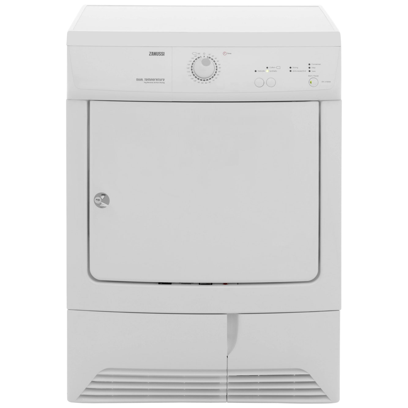 Zanussi ZDC37202W Condenser Tumble Dryer - White