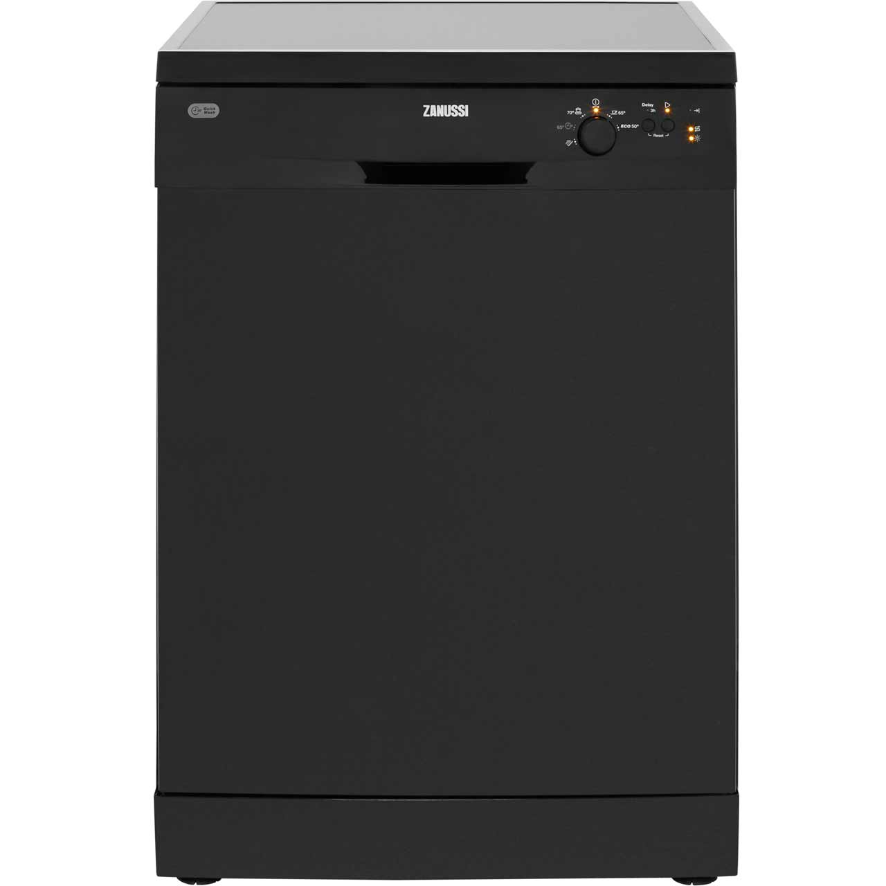 Zanussi ZDF21001NA Free Standing Dishwasher in Black