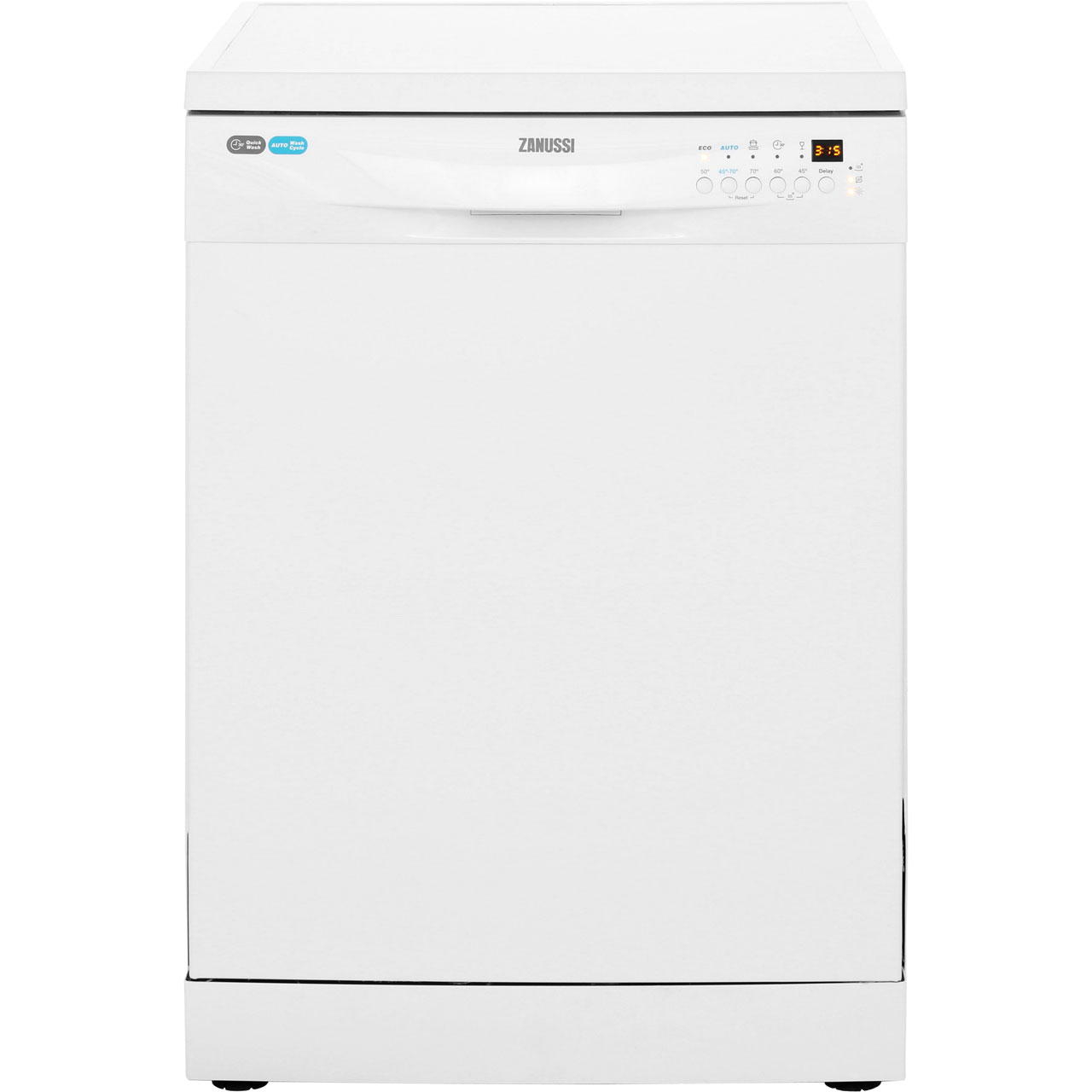 Zanussi Avanti ZDF26003WA Free Standing Dishwasher in White