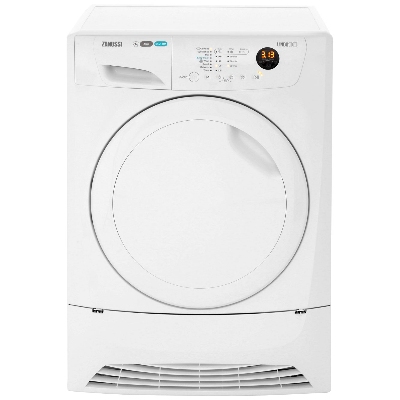 Zanussi Lindo1000 ZDH8333PZ Free Standing Condenser Tumble Dryer in White