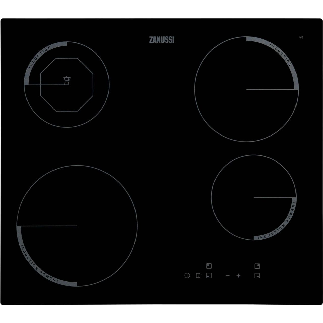 Zei6840fbv Bk Zanussi Induction Hob 59cm Wiring Electric Oven And