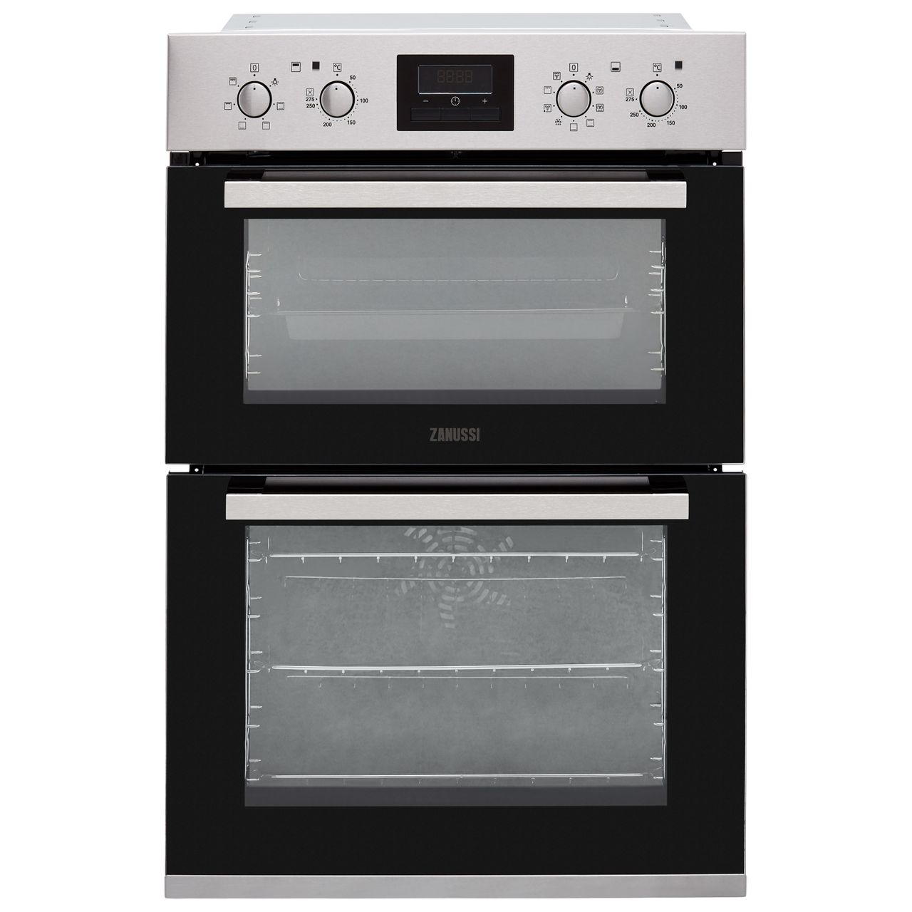 Zanussi Built In Electric Double Oven - Stainless Steel - A/A Rated