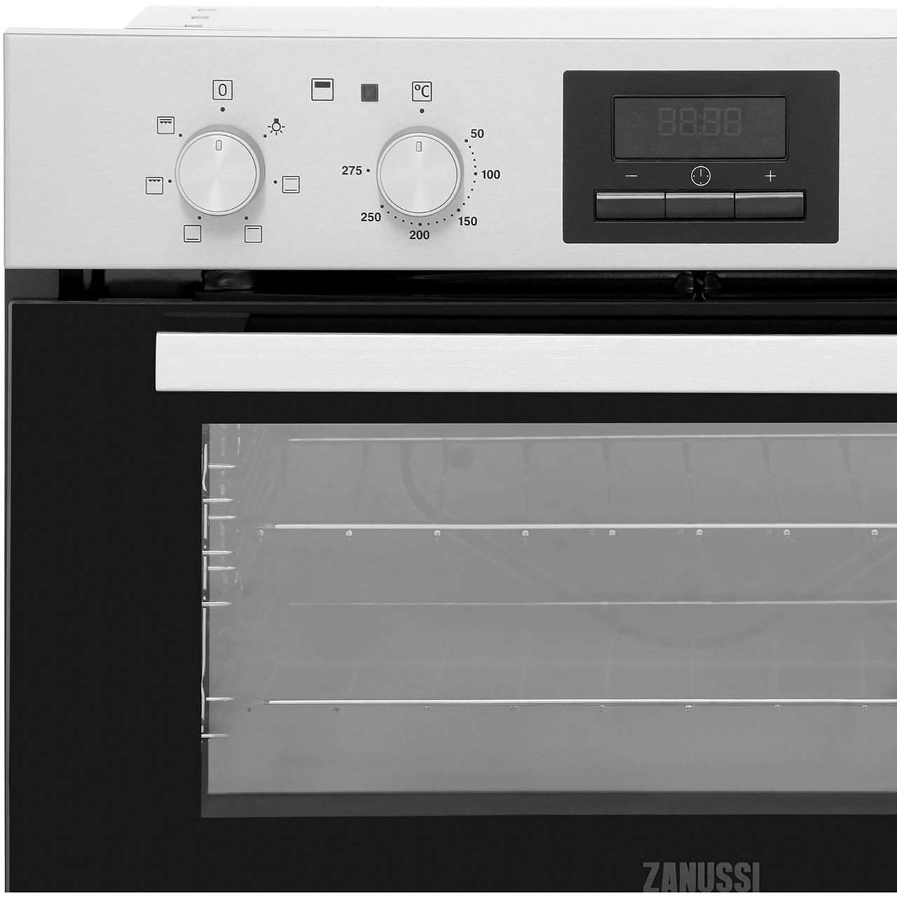 Zanussi Zof35661xk Built Under 59cm Electric Double Oven