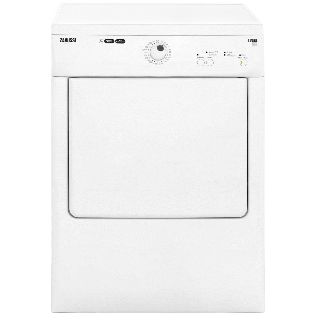 Zanussi Lindo100 ZTE7100PZ Free Standing Vented Tumble Dryer in White