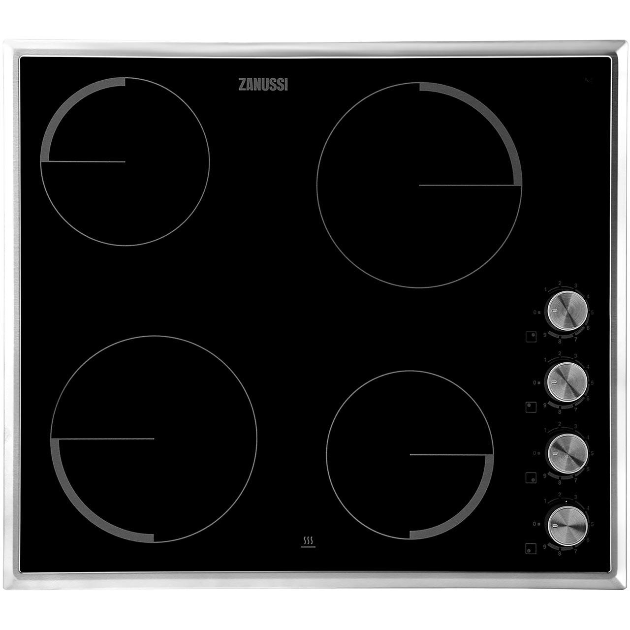 zv614mk bk zanussi induction hob 4 zones ao com rh ao com Ceramic Burner Hob Electric Ceramic Hobs UK