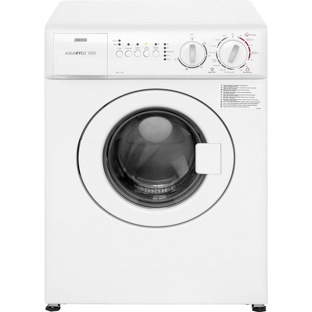 Standard Washing Machine Width Zanussi Zwc1301 3kg Washing Machine With 1300 Rpm White