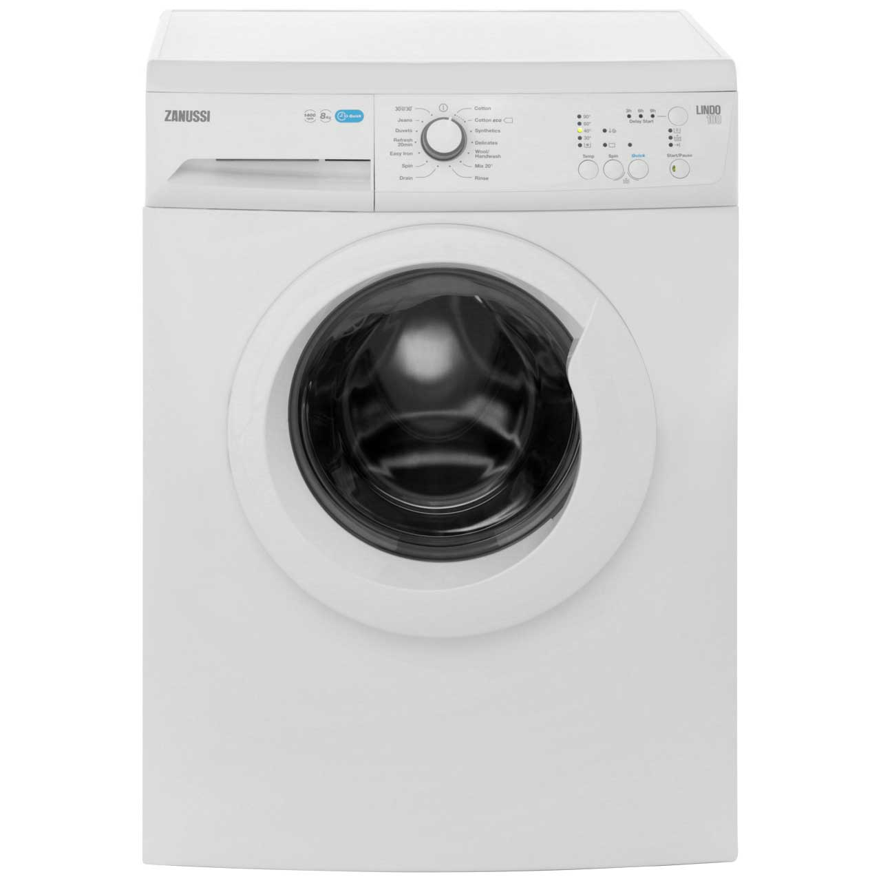 Zanussi Lindo100 ZWF81440W 8Kg Washing Machine with 1400 rpm - White