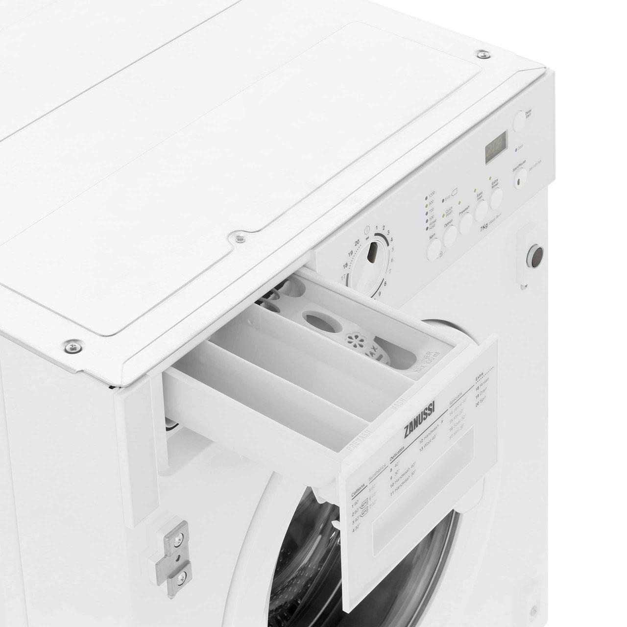 Zanussi Integrated 7kg Washing Machine Zwi71201wa Wiring Diagram Service Manual Error Code