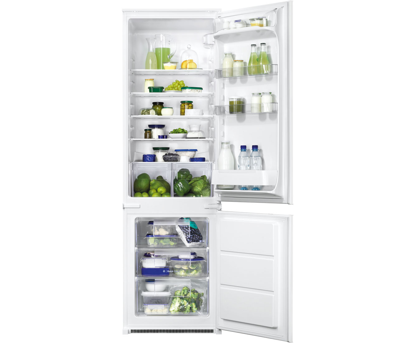 Zanussi ZBB28442SA Integrated Fridge Freezer in White