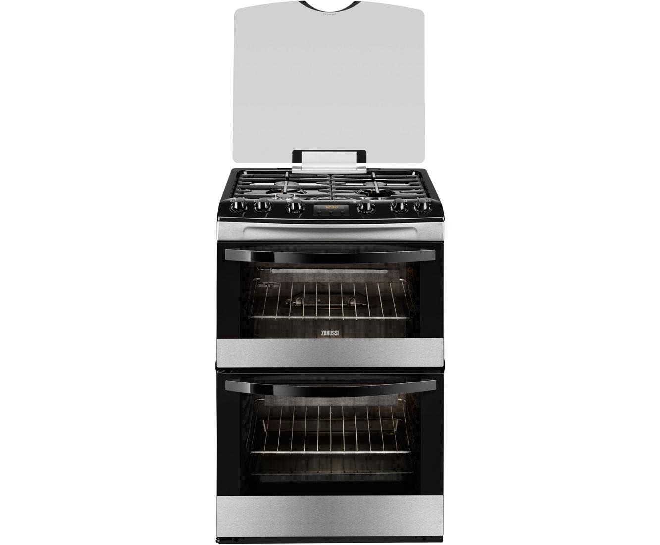 Uncategorized Zanussi Kitchen Appliances zcg63200xa ss zanussi gas cooker ao com