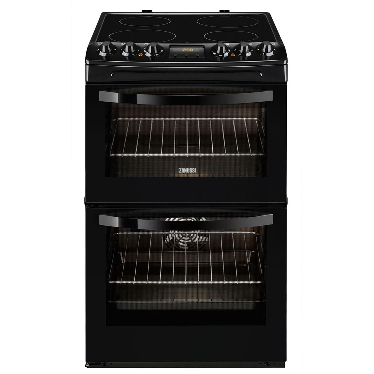 Zanussi Avanti ZCV48300BA Free Standing Cooker in Black