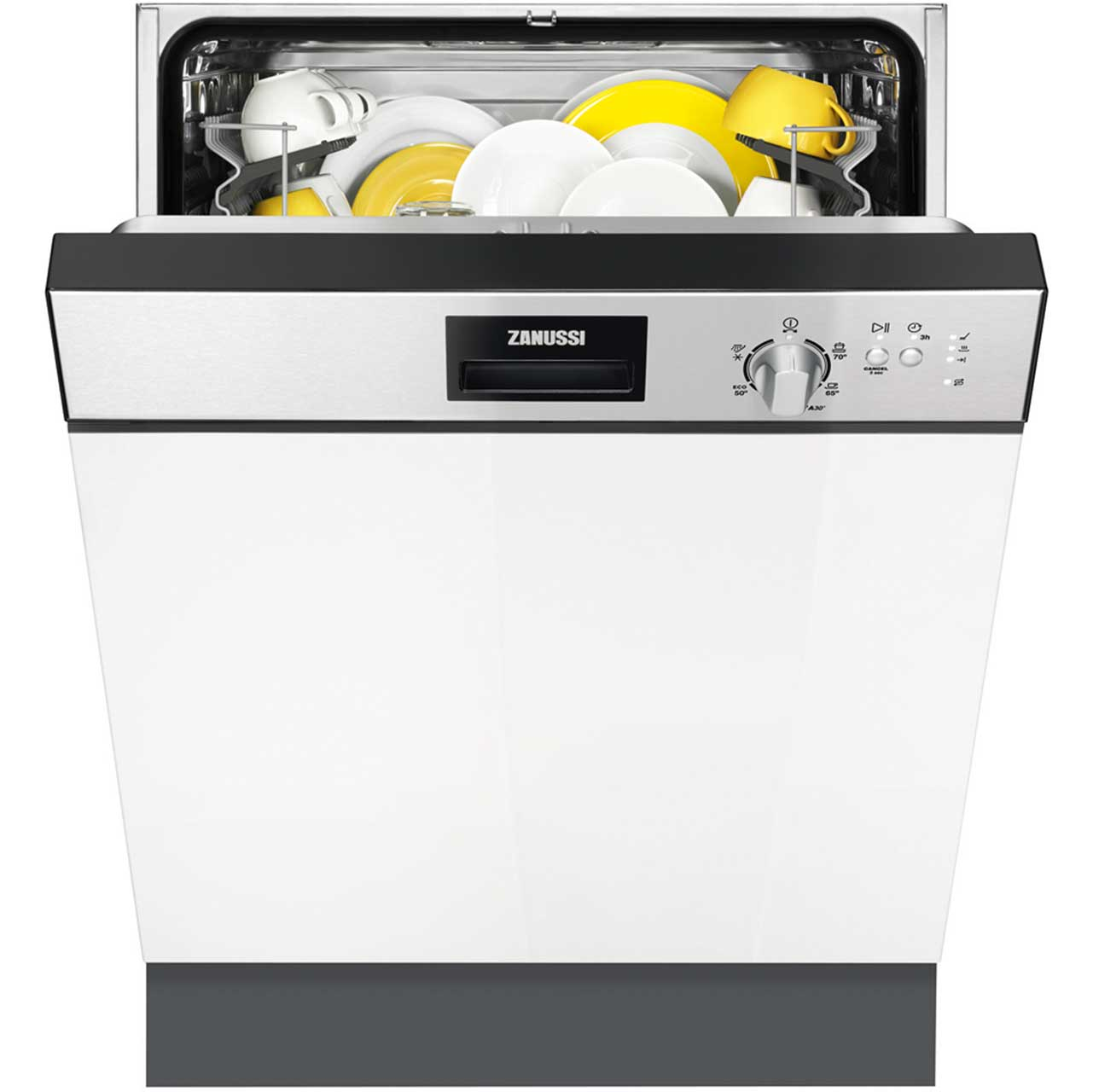 Zanussi ZDI22002XA Integrated Dishwasher in Stainless Steel