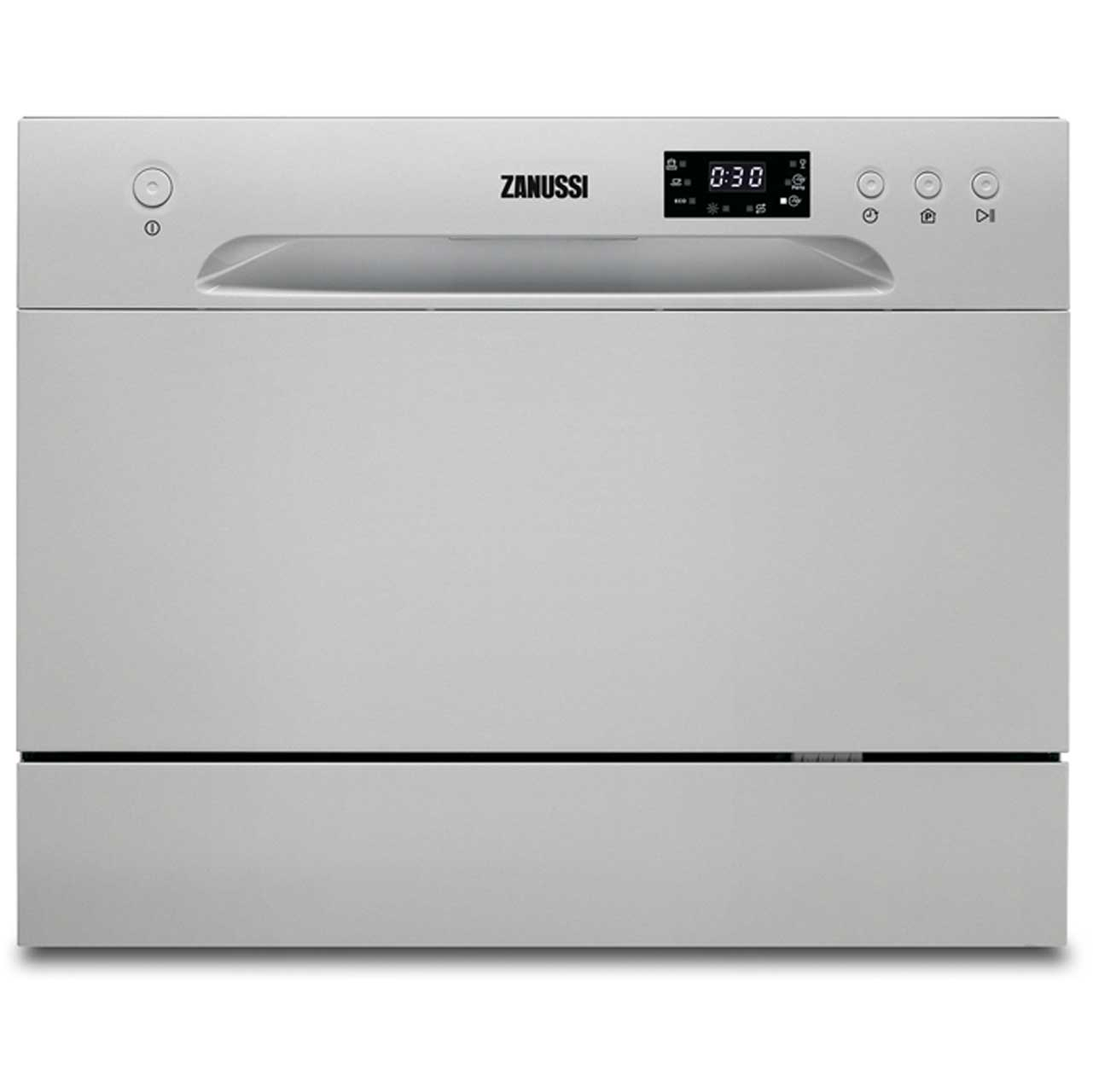 Zanussi ZDM17301SA Free Standing Table Top Dishwasher in Silver