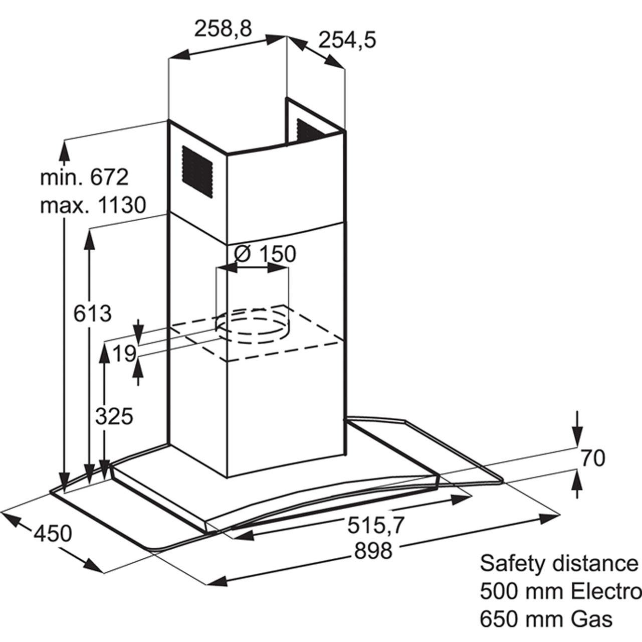 Zhc9234xss zanussi chimney cooker hood 90cm ao cheapraybanclubmaster Choice Image
