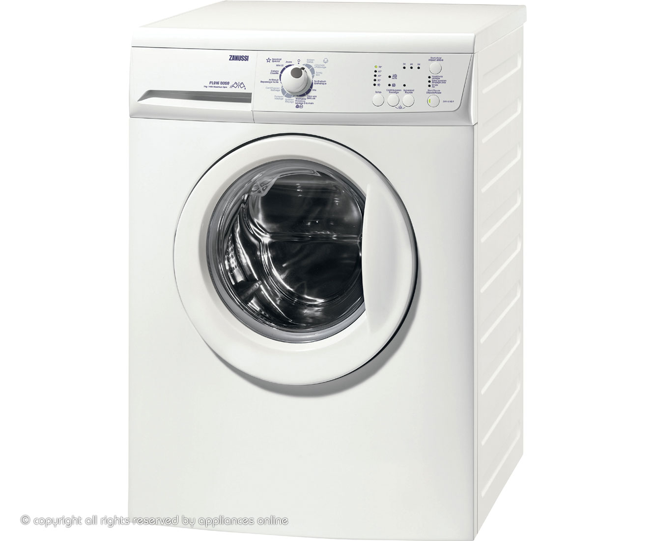 Zanussi ZWH6140P 7Kg Washing Machine with 1400 rpm - White