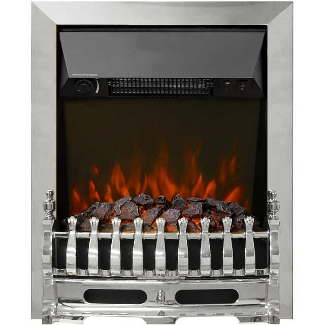 BeModern Bayden Coal Bed Inset Fire - Chrome