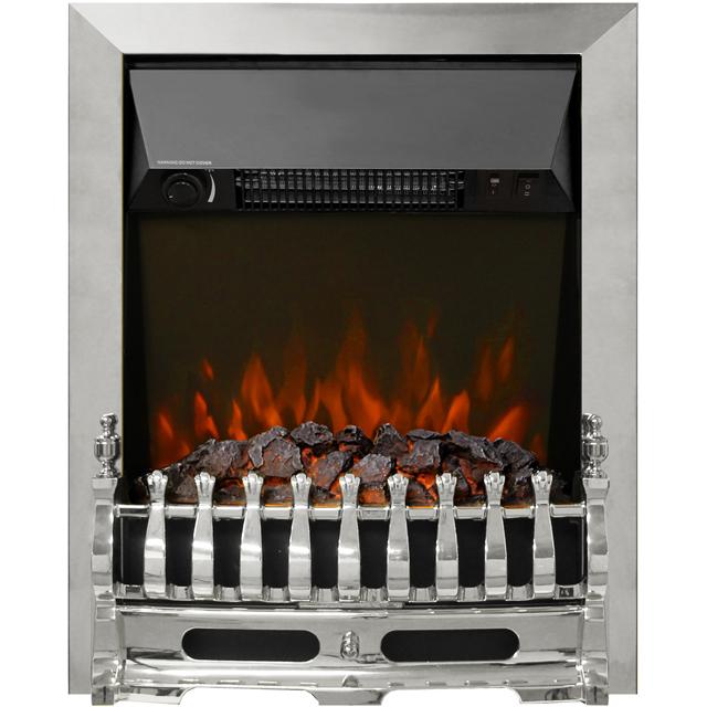 Image of BeModern Bayden 01947X Coal Bed Inset Fire - Chrome