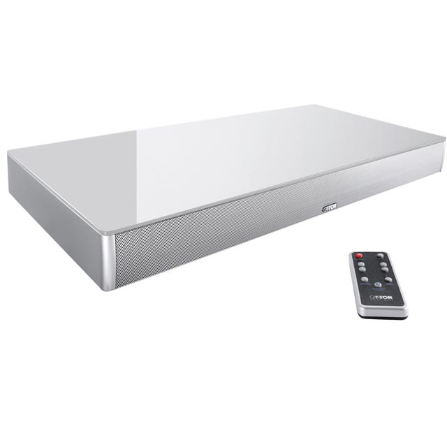 Canton DM75 2.1 Virtual Surround Bluetooth Soundbase with Built-in Subwoofer - Silver - 03578 - 1