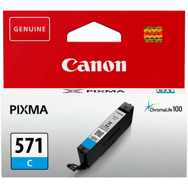 Canon CLI-571C Cyan Ink Cartridge - 0386C001 - 1