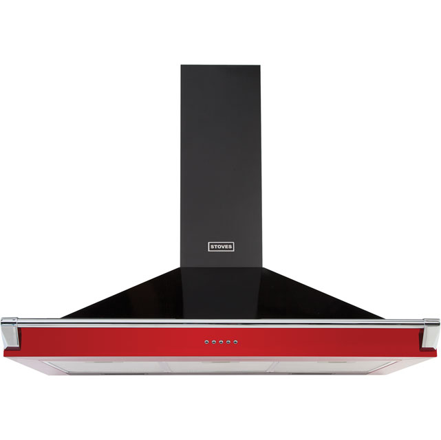 Stoves 1000RICHMONDCHRAILMK2 100 cm Chimney Cooker Hood - Hot Jalapeno - C Rated