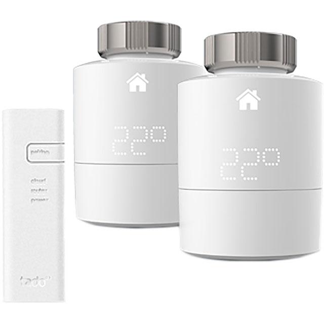 tado Smart Radiator Thermostat Starter Kit - Horizontal 101916 Smart Radiator Valve in White
