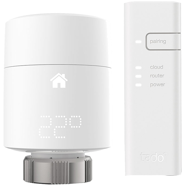tado Smart Thermostat - Starter Kit V3+ Smart Radiator Valve in White