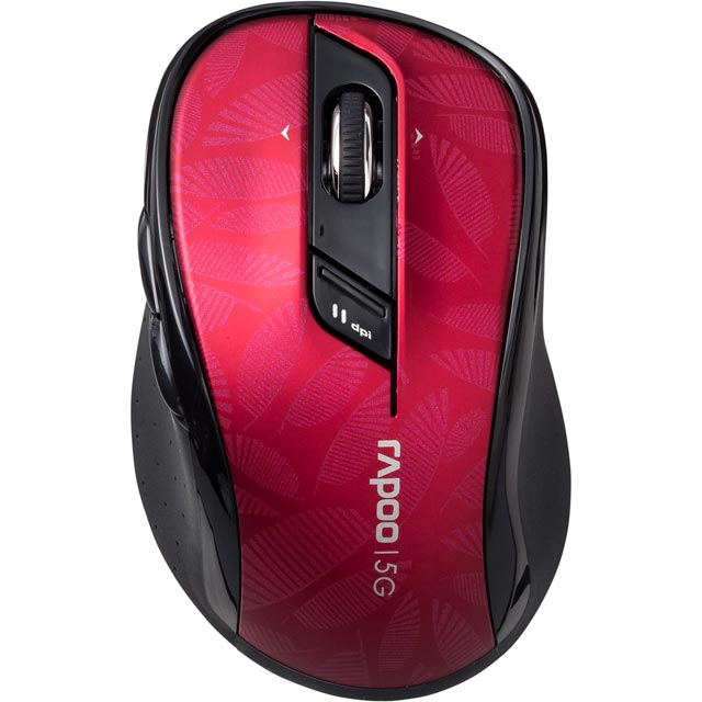 Rapoo 7100P Wireless USB Optical Mouse - Red