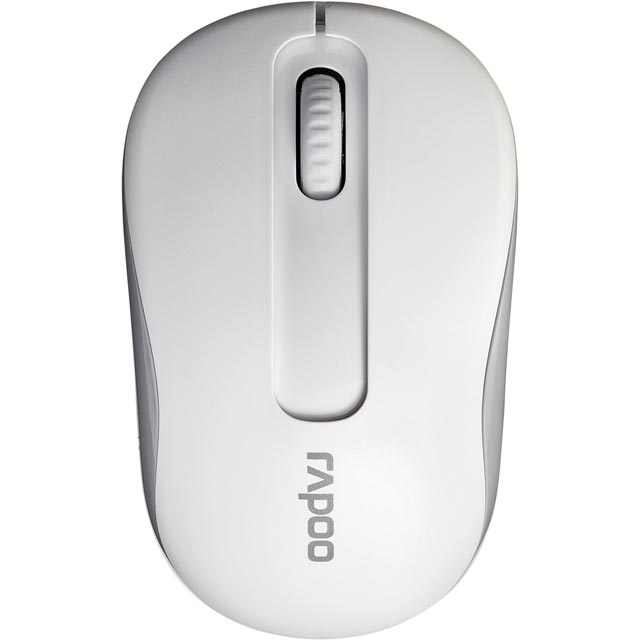 Rapoo M10 Wireless USB Optical Mouse - White