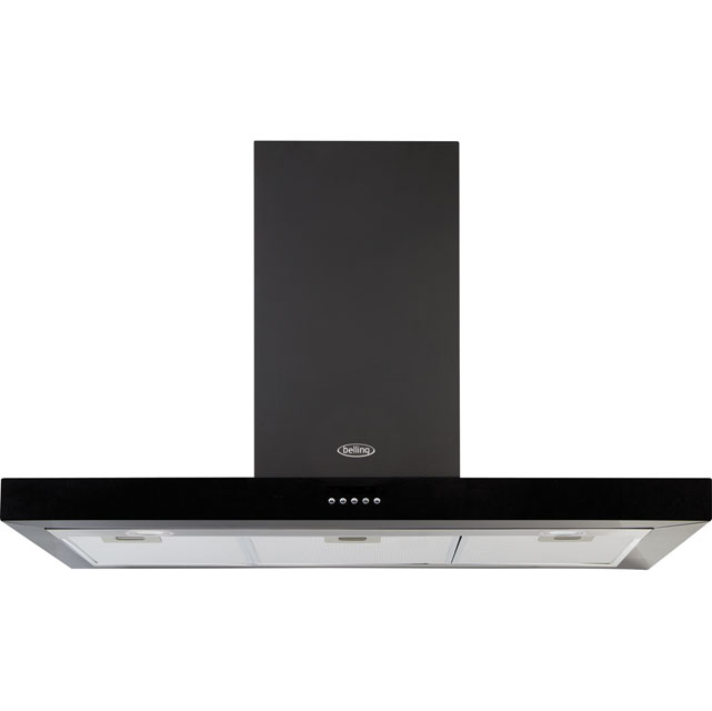 Belling 110DBFLATMK3 110 cm Chimney Cooker Hood - Black - D Rated - 110DBFLATMK3_BK - 1