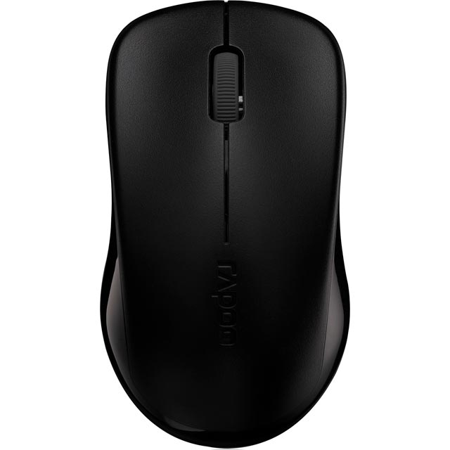 Rapoo 1620 Wireless USB Optical Mouse - Black - 11464 - 1