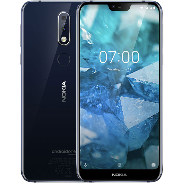 Nokia 7.1 32GB Smartphone in Blue - 11CTLL01A13 - 1