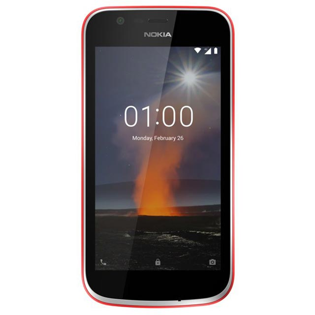 Nokia 1 8GB Smartphone in Warm Red