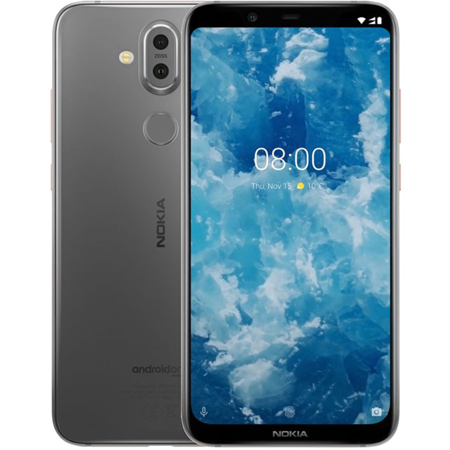 Nokia 8.1 64GB Smartphone in Steel - 11PNXS01A03 - 1
