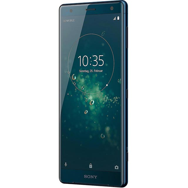 Search and compare best prices of Sony Mobile Xperia XZ2 Series 1315-2044 Mobile Phone in Deep Green / Blue in UK