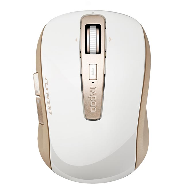 Rapoo 3920P Wireless USB Laser Mouse - Gold - 13347 - 1