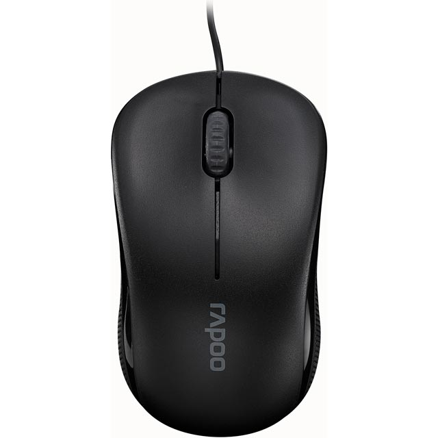 Rapoo N1130 Wired USB Optical Mouse - Black - 13742 - 1