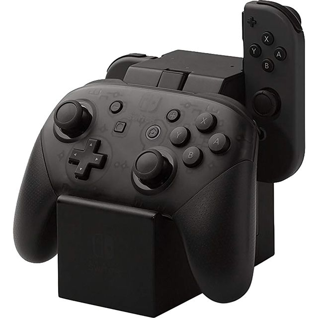 Power A Nintendo Switch Joy-Con Pro Controller Charging Dock - Black