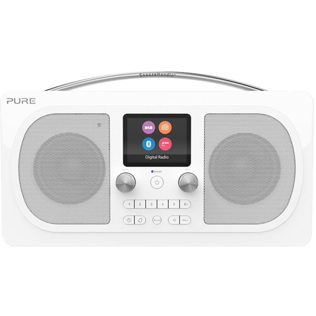 Pure Evoke H6 Prestige Edition DAB / DAB+ Digital Radio with FM Tuner - White - 151077 - 1