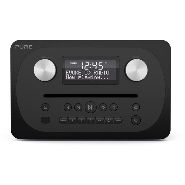 Pure Evoke C-D4 DAB / DAB+ Digital Radio with FM Tuner - Black
