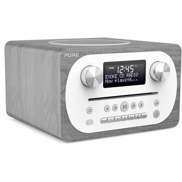 Pure Evoke C-D4 DAB / DAB+ Digital Radio with FM Tuner - Grey Oak - 151081 - 1