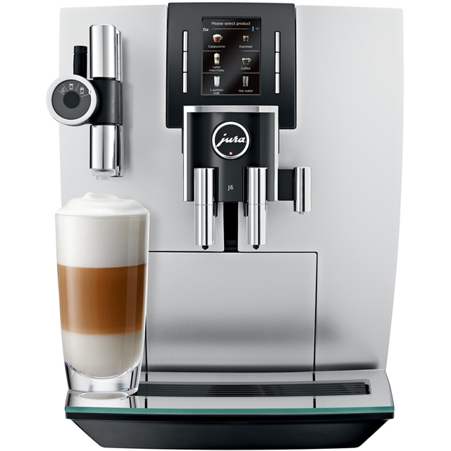 Jura J6 15111 Bean to Cup Coffee Machine - Brilliant Silver - 15111_SI - 1