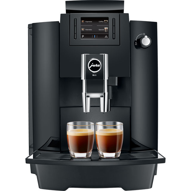 Jura WE6 15114 Commercial Bean to Cup Coffee Machine - Piano Black - 15114_PB - 1