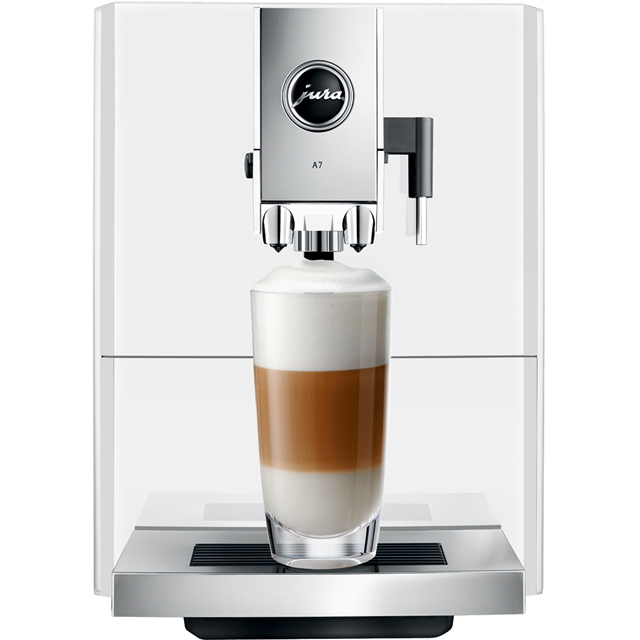 Jura A7 15125 Bean to Cup Coffee Machine - Piano White