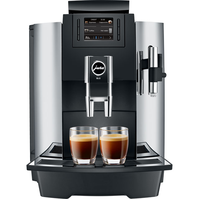 Jura WE8 15144 Commercial Bean to Cup Coffee Machine - Chrome - 15144_CHR - 1