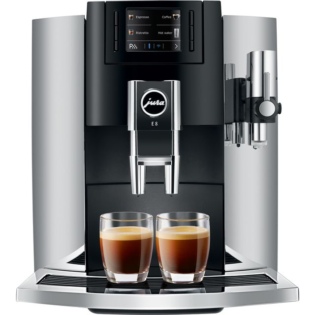 Jura E8 15235 Bean to Cup Coffee Machine - Chrome - 15235_CH - 1