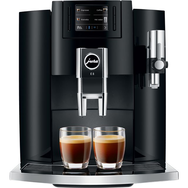 Jura E8 15268 Bean to Cup Coffee Machine - Black - 15268_BK - 1