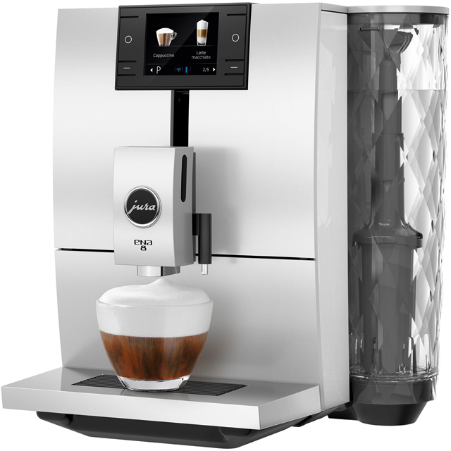 Jura ENA 8 15314 Bean to Cup Coffee Machine - White - 15314_WH - 1