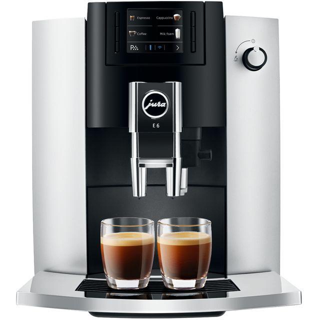 Image of Jura E6 15342 Bean to Cup Coffee Machine - Platinum