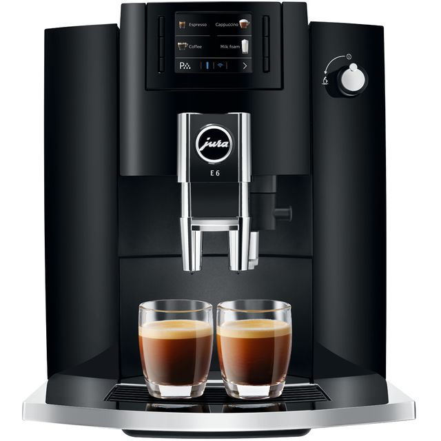 Image of Jura E6 15350 Bean to Cup Coffee Machine - Piano Black