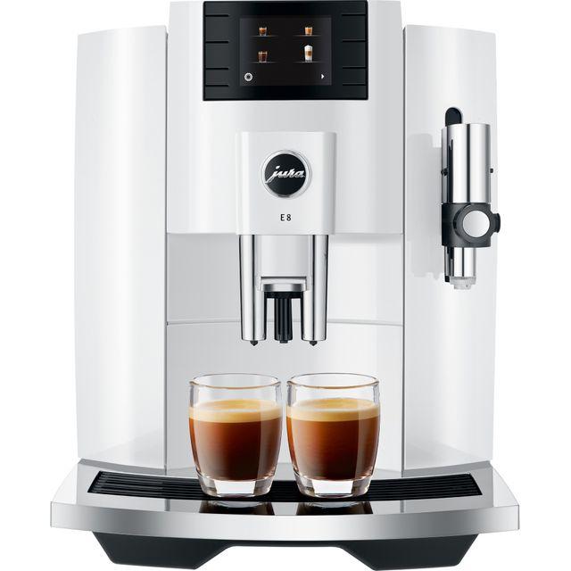 Jura E8 15353 Bean to Cup Coffee Machine - White